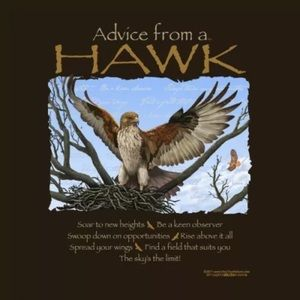 Advice From a Hawk T-shirt Unisex Sizes